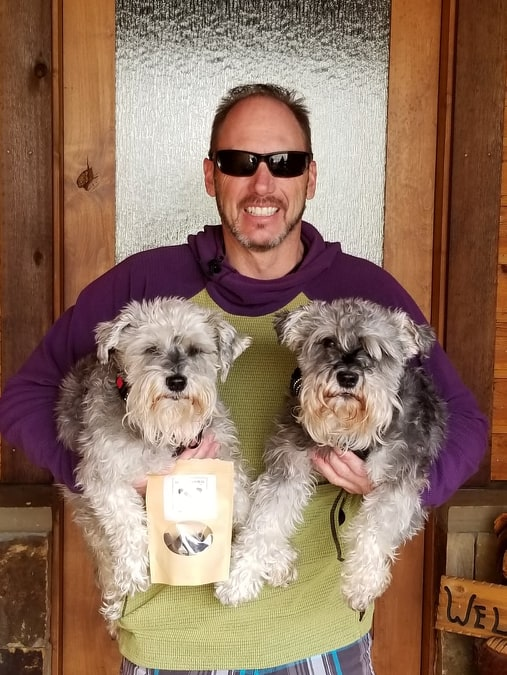 Maddi & Liam love their Happy Dogs CBD Treats pbjdogs.com