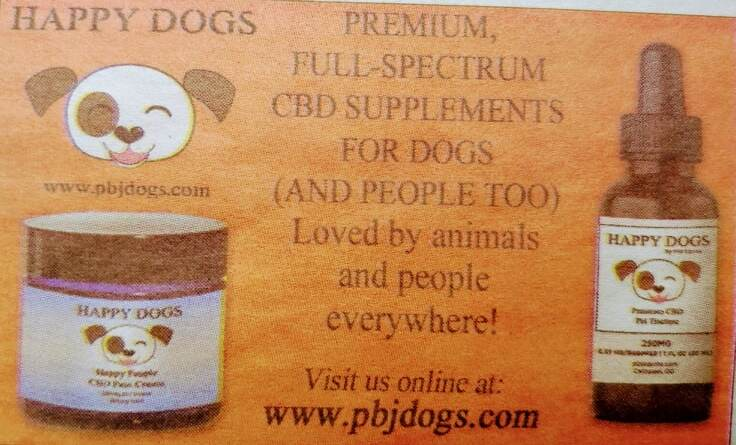 Happy Dogs CBD for people and pets! pbjdogs.com
